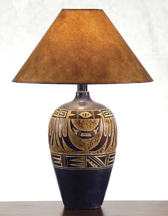 Ah 6182 Nv Southwest Style Table Lamp Southwestern Decor