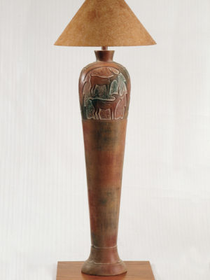 AH6185F Indian Deer Floor Lamp