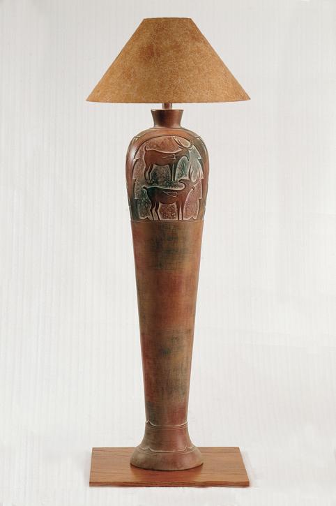 AH6185F Indian Deer Floor Lamp