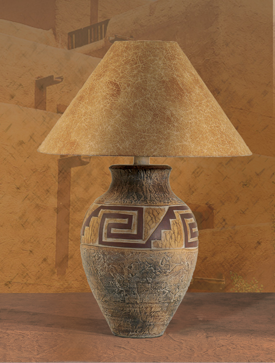 Southwest Lamps Ah 6190 Southwestern Style Table Lamp