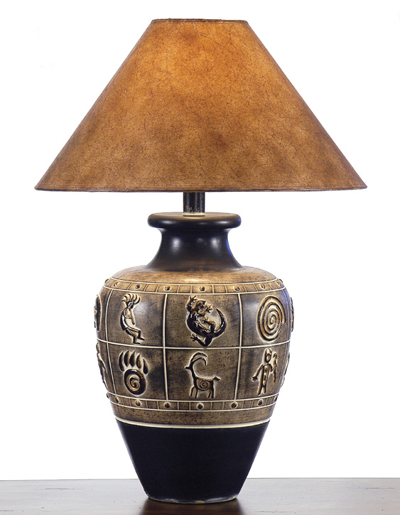 AH-6236-NV, Southwest Table Lamp